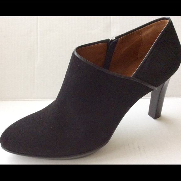 50baf0925cf4 Aquatalia short booties black heels suede upper